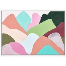 Colourful Mountains Canvas