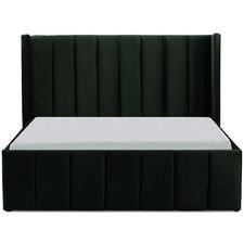 Green Innika Velvet Bed
