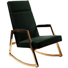 Sybilla Velvet Rocking Chair