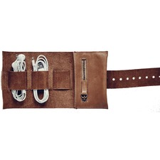 Tan Leather Cord Roll
