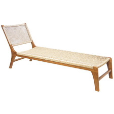 Quantum PE Rattan Single Sun Lounge