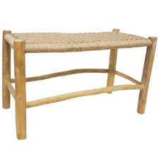 Natural Justin PE Rattan Backless Bench