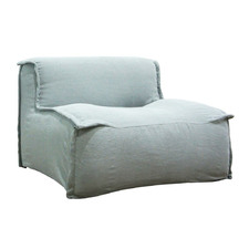 Washed Blue Amiele Linen Armchair