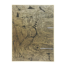 Kamunda Gold Framed Canvas Wall Art