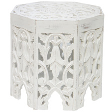 White Gypsy Side Table