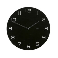 Degree Chrome Numbers Clock 35 cm