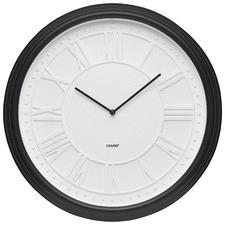 50cm Matte Black Calais Wall Clock