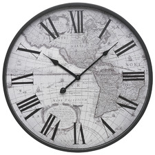 45cm Matte Black Atlas Wall Clock