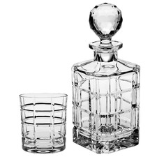 7 Piece Times Crystal Decanter & Tumblers Set
