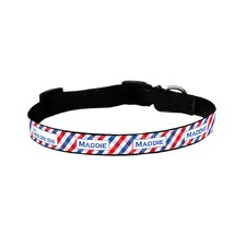 Red and Blue Picnic Time Collar