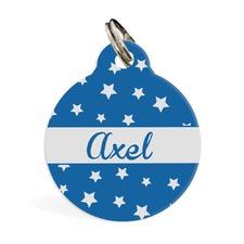 All Stars Blue ID Pet Tag