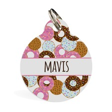 Go nuts for Donuts Pink ID Pet Tag