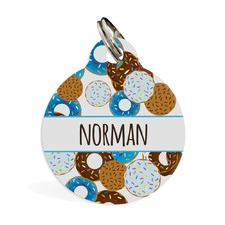 Go nuts for Donuts Blue ID Pet Tag