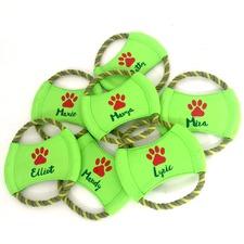 Personalised Christmas Paw Frisbee