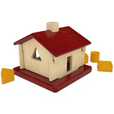 Linden Wood Sorting House Toy