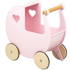 Linden Wood Doll's Pram Toy