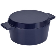 Stanley Rogers Mid Blue 24cm Cast Iron French Oven