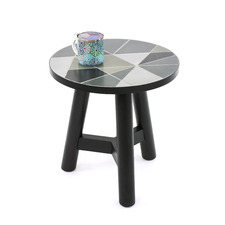 Linear Pattern Side Table
