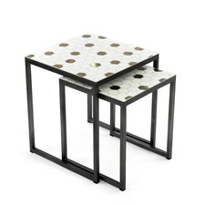 Set of 2 Honeycomb Nesting Side Tables