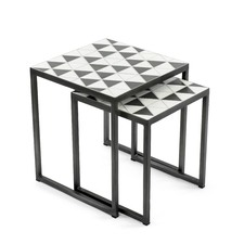Polygon Nesting Side Tables (Set of 2)