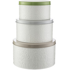 3 Piece Forest Mason Cash Coated Steel Cake Tin Set