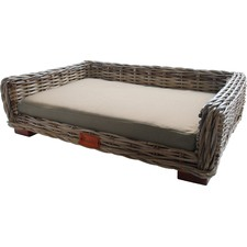 Cocoa Wicker Lounge Bed