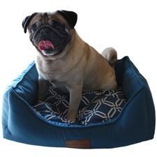 Bondi Blue Quattro Velvet Pet Bed