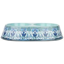 Blue & Green Fresco Double Dog Bowl