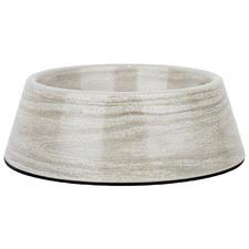 Grey Oak Like French Dog Bowl