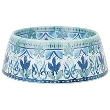 Blue & Green Fresco Dog Bowl
