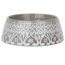 Grey Indi Dog Bowl