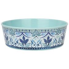 Blue & Green Single Wall Fresco Dog Bowl