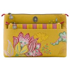 2 Piece Jambo Flower Faux Leather Beauty Bag Set