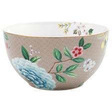 Khaki Blushing Birds 15cm Porcelain Bowl