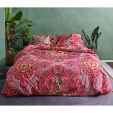 Red Sultans Cotton Percale Quilt Cover Set