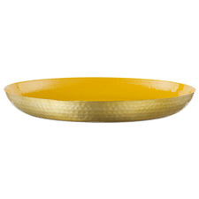 50cm Yellow Seraiah Aluminium Serving Tray