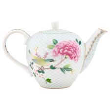 White Blushing Birds 750ml Porcelain Tea Pot