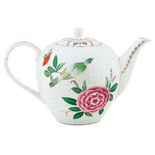 White Blushing Birds 1.6L Porcelain Tea Pot