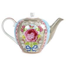 Khaki Floral 1.6L Porcelain Tea Pot