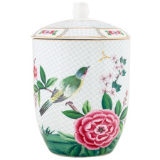 White Blushing Birds 1.5L Porcelain Storage Jar