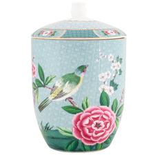 Blue Blushing Birds 1.5L Porcelain Storage Jar