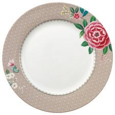 Khaki Blushing Birds 26.5cm Porcelain Dinner Plate