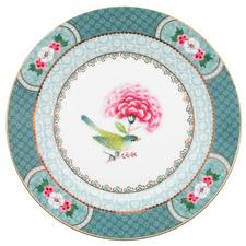 Blue Blushing Birds 17cm Porcelain Dessert Plate