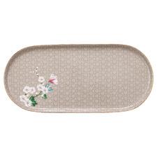 Khaki Kamini 25cm Oval Porcelain Platter