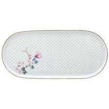 White Kamini 25cm Oval Porcelain Platter