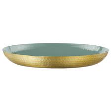 50cm Green Seraiah Aluminium Serving Tray