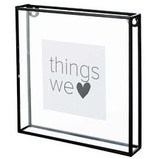 "Black Metal & Glass 6 x 8"" Photo Frame"