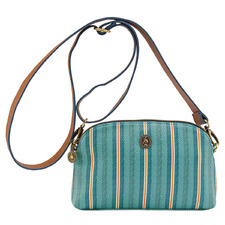 Green Blurred Lines Cross Body Bag