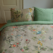 Khaki Fall In Leaf Cotton Quilt Cover Set