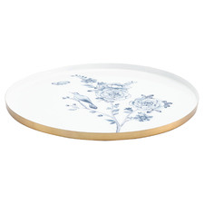 White Floral 34cm Serving Plate